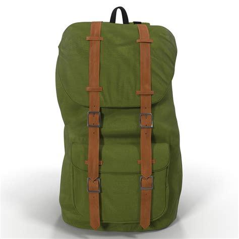 J J Premium Backpack 3d For 7 3d model of backpack 8 green generic