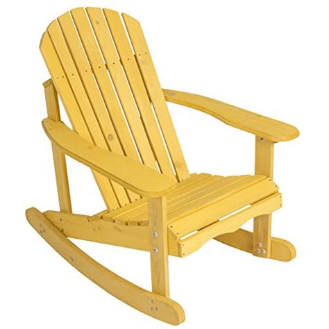 Best Outdoor Rocking Chair by Best Choice Products Outdoor Adirondack Rocking Chair