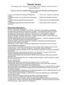 Free Sle Property Manager Resume Property Manager Resume Free Resumes