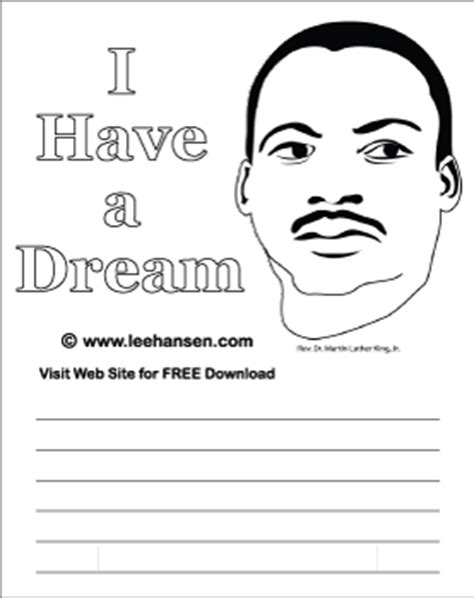 printable mlk writing paper mlk worksheet i have a dream journal paper or writing