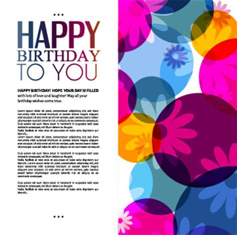 greeting card templates for birthday birthday greeting card template free vector