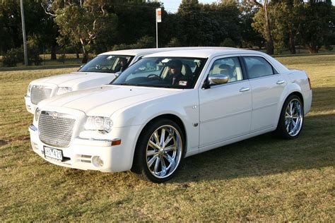 chrysler car white chrysler sedan chrysler 300c melbourne krystal limousines