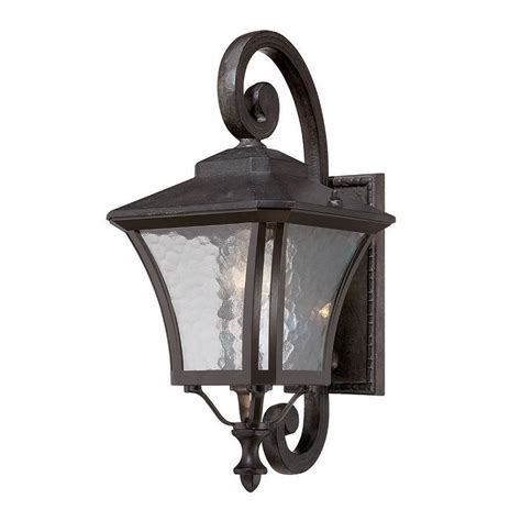Outdoor Shop Lighting Shop Acclaim Lighting Tuscan 19 5 In H Black Coral Outdoor Wall Light At Lowes