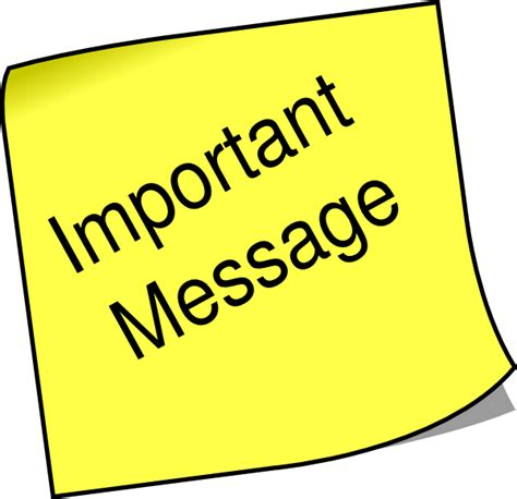 note important message clip at clker vector clip