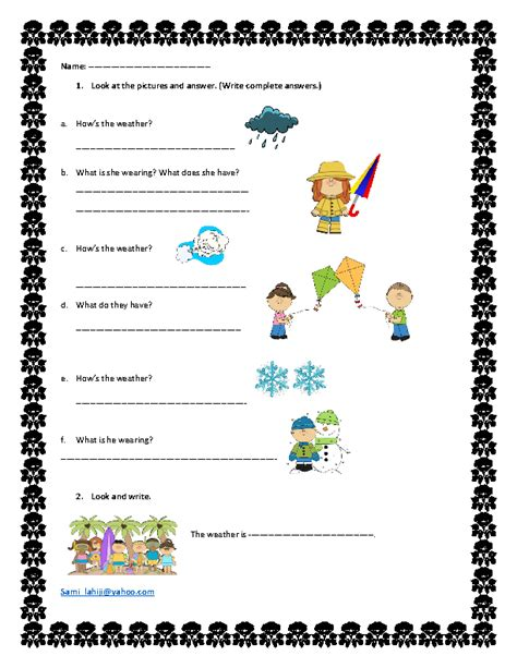 Weather Worksheets by Winter Weather Worksheets Kindergarten 7 Best Images Of