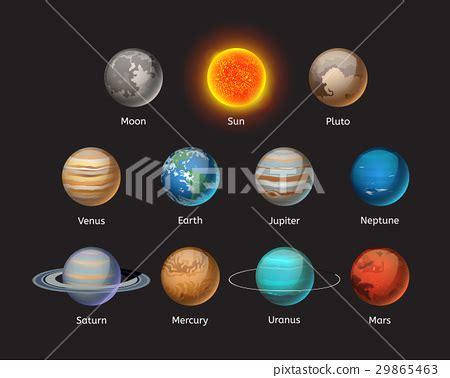high quality solar systems high quality solar system planet galaxy astronomy 스톡일러스트