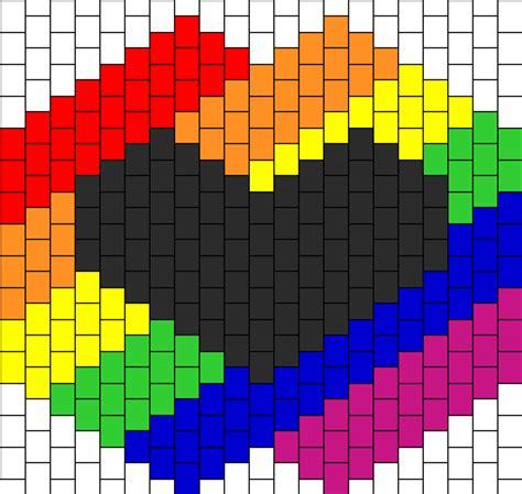 heart pattern rainbow rainbow with heart bead pattern peyote bead patterns