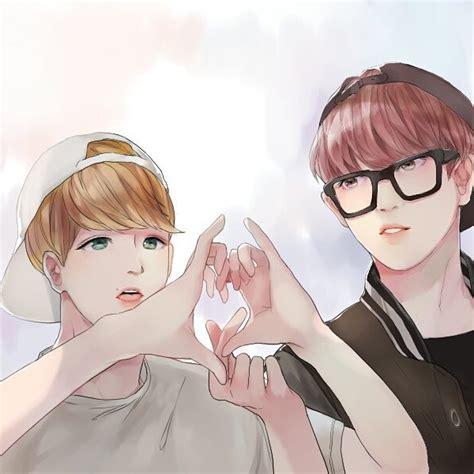 chanbaek fanart baekhyun chanyeol on instagram chanbaek