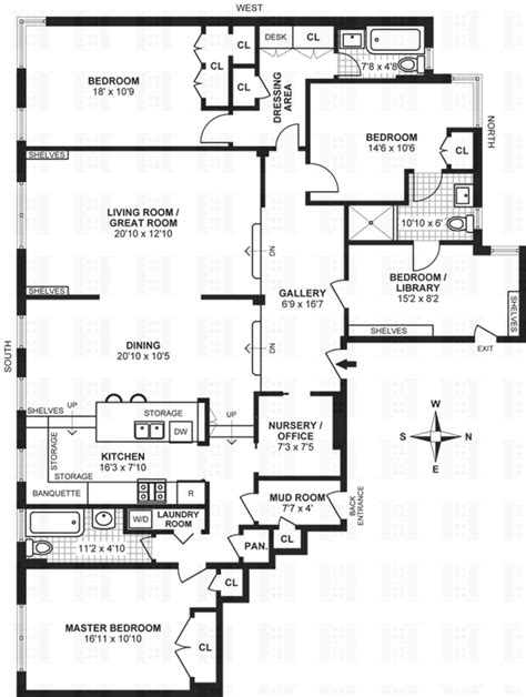 classic 6 floor plan this classic co op next to carl schurz park asks 2 795