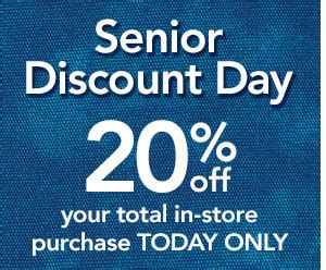 is there a certain day for senior discount at great clips jo ann fabric and craft store daily deals online senior