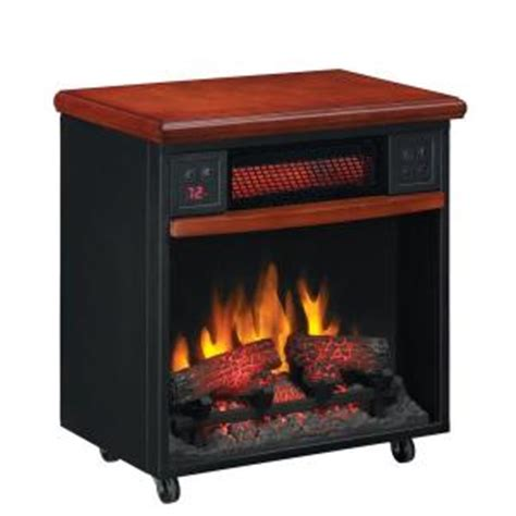 rolling electric fireplace stanton 23 in infrared rolling electric