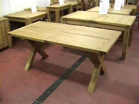 diy table with cross legs cross x leg extending oak dining tables