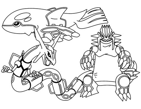pokemon coloring pages groudon and kyogre free legendary pokemon coloring pages for kids