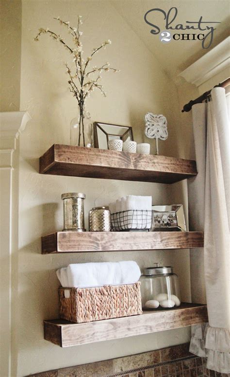 Diy Shelves For Bathroom Diy Floating Shelves Reclaimed Wood Woodguides