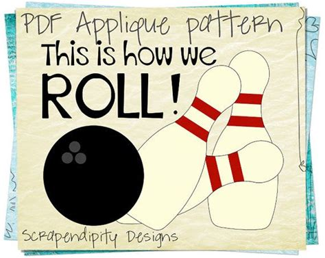 Bowling Applique Pattern Pins Applique Template Bowling Birthday Party Sports Quilt Bowling Shirt Design Template