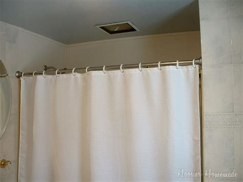 replace shower door with curtain bathroom remodel with home depot step 3 hoosier homemade