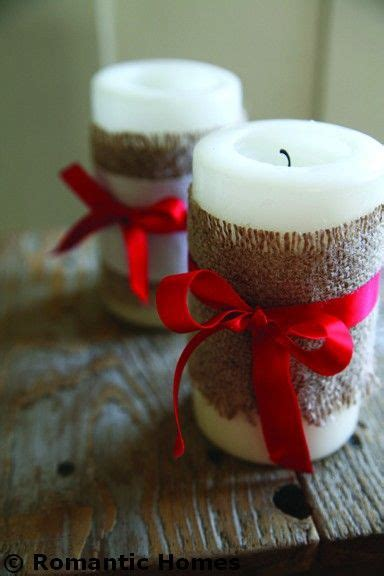 candle decorating ideas with ribbon wrap candles in burlap and satin ribbon for a table decoration better yet stencil on