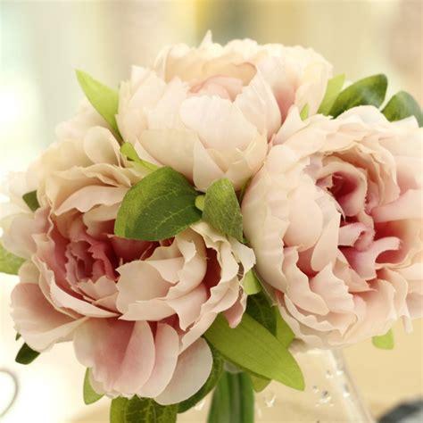 wedding silk flowers uk artificial silk flower peony bouquet outdoor wedding