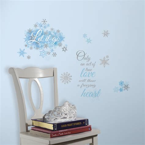 Frozen Wall Decor by Frozen Let It Go Quotes Wall Decals