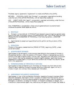 Sle Contract Letter by 3 Sales Contract Templatereport Template Document Report Template