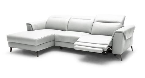 White Leather Reclining Sectional by Divani Casa Mosley Modern White Leather Sectional Sofa W