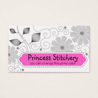 sewing cards templates embroidery business cards templates zazzle
