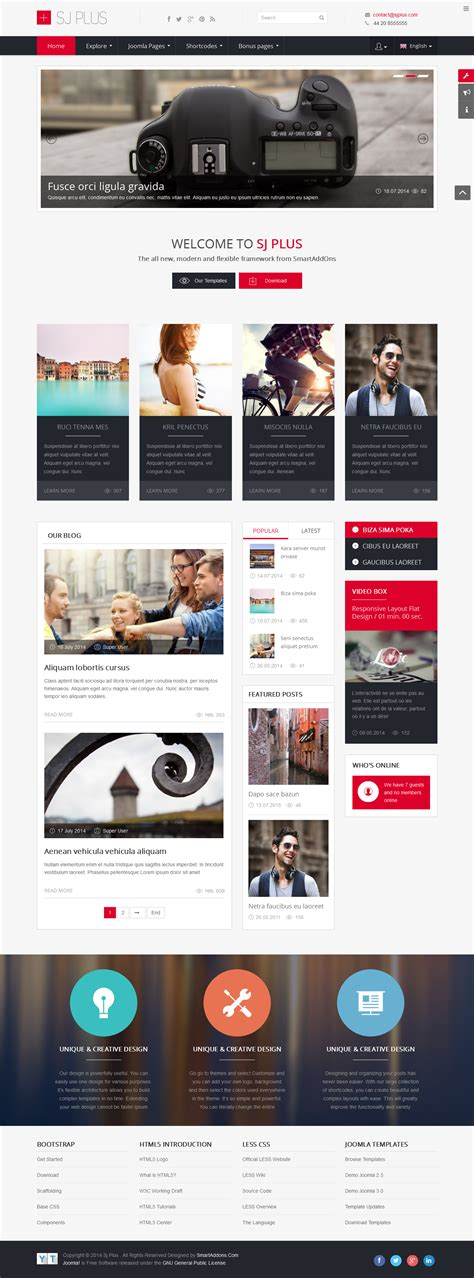 20 best free responsive joomla templates to build awesome