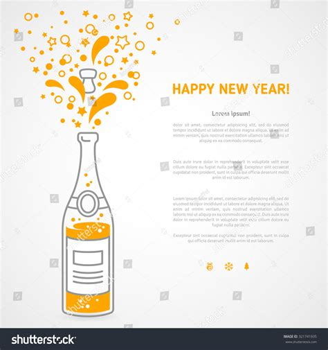 happy new year 2016 greeting card stock vector 321741935
