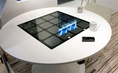 wireless charging table panasonic shows solar powered wireless charger table
