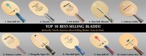 butterfly blade butterfly top 10 best selling table tennis blades