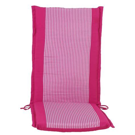 Cushion pink stripe hi back 114 cm
