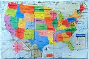 wall size usa map united states us wall map 40 quot x 28 quot usa large poster