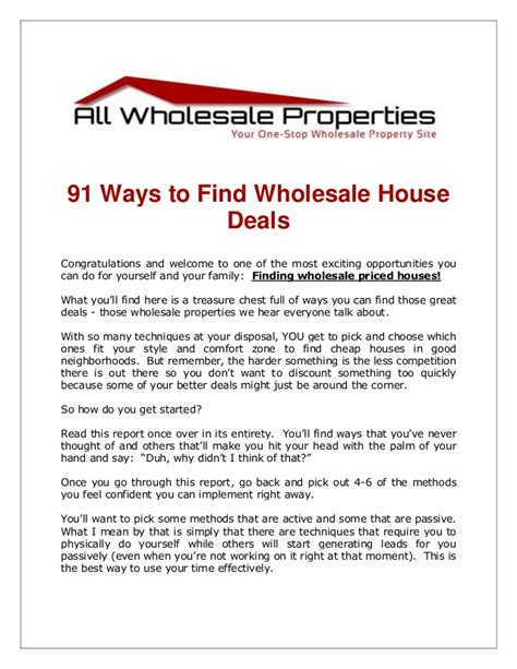 best way to buy a house 91 ways to find houses at wholesale prices