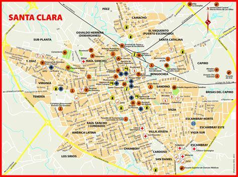 santa clara map cuba maps