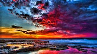 colorful sunset colorful sunsets wallpapers wallpaper cave