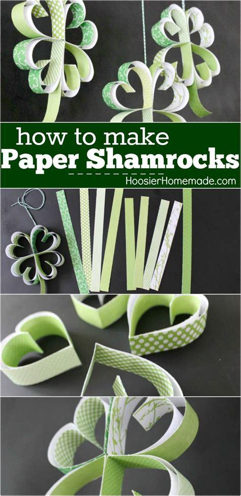 st patricks day craft    paper shamrocks