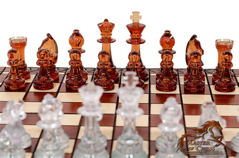 decorative chess set amber decorative chess set 41cm stunning chessboard and