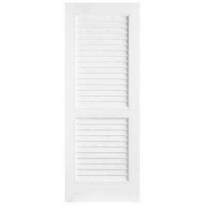home depot louvered doors interior masonite 24 in x 80 in plantation smooth louver solid primed pine interior door slab