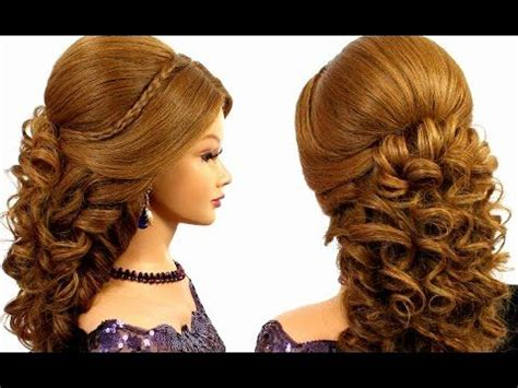 hairstyles to the side youtube romantic wedding prom hairstyle for long hair youtube