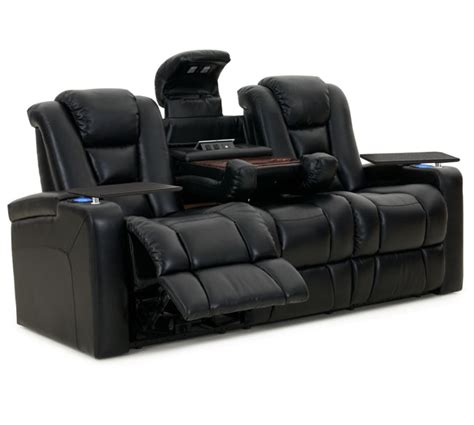Mega Couches by Octane Mega Multi Function Reclining Sofa In Black Bonded