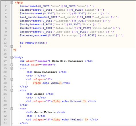 membuat link ke halaman lain membuat form yang hasilnya ditilkan pada halaman lain