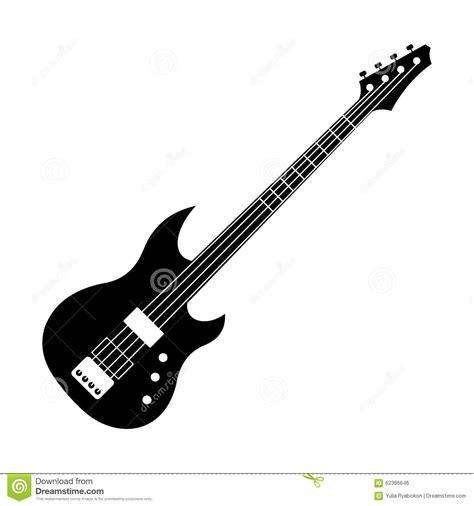imagenes de guitarras a blanco y negro black electric guitar icon stock vector illustration of