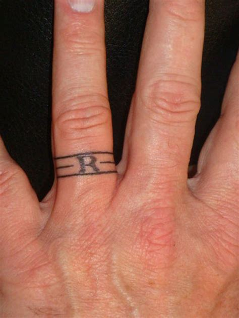 couples wedding ring tattoos 25 impressive wedding band tattoos creativefan