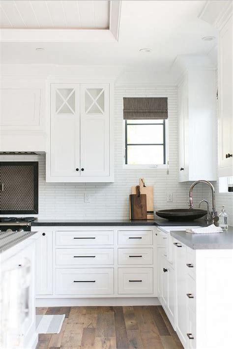 Black Handles For Kitchen Cabinets White Kitchen Cabinets Black Knobs Quicua