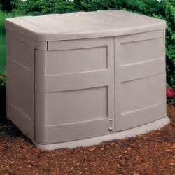 Outdoor storage bins garden storage shed 30 cubic feet horizontal