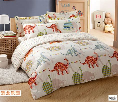 dinosaur park cream colored dinosaur bedding set
