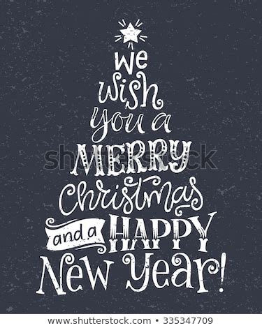 vector christmas tree  holidays lettering     merry christmas   happy  year