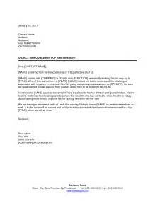 Birth Notice Template by Best Photos Of Retirement Notification Letter Sle