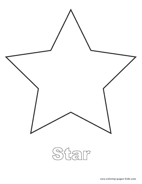 printable star a4 shape color pages coloring pages for kids educational