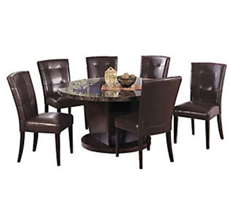 Qvc Dining Room Set Black Marble Dining Room Set By Acme Furniture Qvc